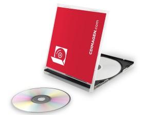 El packaging de un CD o DVD